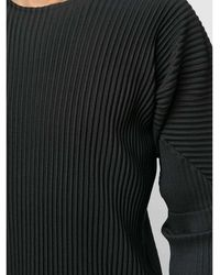 Issey Miyake Homme Plisse Effect T-Shirt Negro