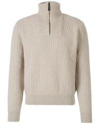 Brioni Zipper Sweater - Naturel