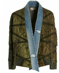 Greg Lauren Cm026army jacket - Vert