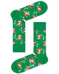 Happy Socks Calcetines Tiger - Groen