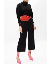 See By Chloé - Pleated mock neck top Negro - Lyst
