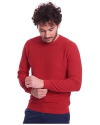 Heritage Operated Sweater In Pure Cotton - Rood