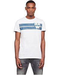 G-Star RAW D17693 336 Stripe Tee T-shirt - Wit