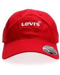 Levi's 228054 Big Batwing Hat - Rood
