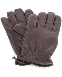 Orciani Gu0073 Leather Gloves - Bruin