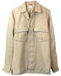 Bagutta Shirt - Linen Overshirt - Naturel