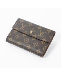 Louis Vuitton Porte-Tresor carta Caso - Marrone