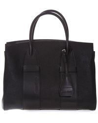 Miu Miu Madras Leather Handbag - Zwart