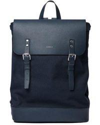 Sandqvist Hege Two-Material Backpack - Blau