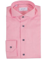 Eton Overhemd Shirt 100001411 55 - Rouge