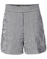 Dorothee Schumacher Checked Shorts - Gris