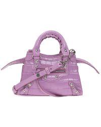 Balenciaga Neo Classic City Shoulder Bag - Paars
