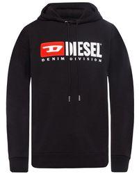 DIESEL - Logo Geborduurd Hoodie - Lyst