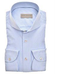John Miller Slim Fit Shirt - Blauw