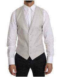 Dolce & Gabbana - Wool Waistcoat Formal Gillet - Lyst