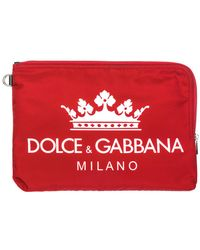 Dolce & Gabbana Men's Briefcase Document Holder Wallet - Rood