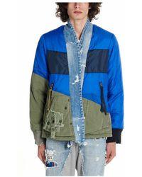 Greg Lauren M050mbluearmy jacket - Bleu