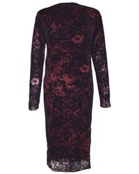 Jean Paul Gaultier Optical Illusion Tulle Dress - Rosso