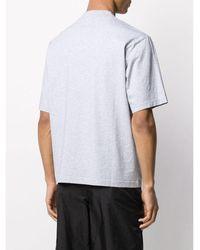 Acne Studios Camiseta Everest Label Gris