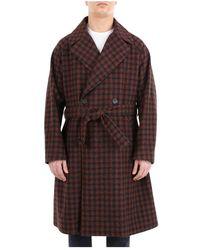 Hevò Brindisiq140 Long Coat - Bruin