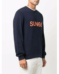 Sun 68 Sweatshirt - Bleu