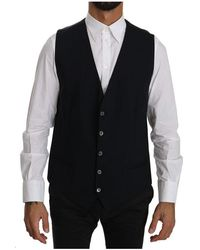 Dolce & Gabbana Formal Gilet Cotton Vest - Nero