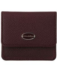 Dolce & Gabbana Dauphine Leather Pocket Case - Rood