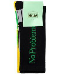 Aries Tri-pack No Problemo Socks - Nero