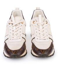 Louis Vuitton Mesh & Monogram Canvas Reverse Run Away Sneakers - Bianco