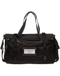 Givenchy Travel Duffle Weekend Shoulder Bag Nylon Downtown - Zwart