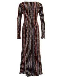 M Missoni Striped Dress Marrón