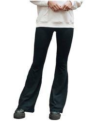 Colourful Rebel Basic flare pants - Negro