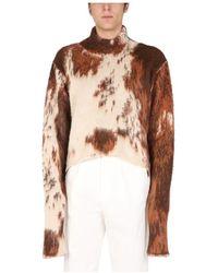 Gcds Sweater With Animal Print - Bruin