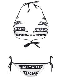 Balmain - Tweedelig Badpak Met Logo - Lyst