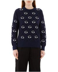 KENZO All Over Eye Sweater - Blauw
