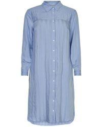 iN FRONT Lolly Long Shirt 14457 - Bleu