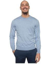 Canali Round-necked pullover - Bleu
