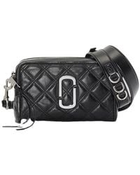 Marc Jacobs The Quilted Soft Shot Bag - Zwart