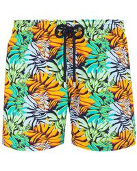 Vilebrequin Moorise Swim Short Stretch Jungle - Geel