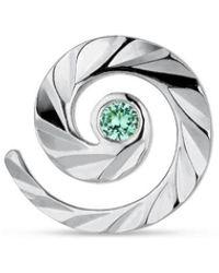 Jane Kønig Impression Stud with emerald, sterling silver - Grigio
