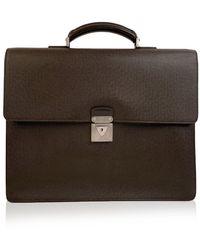 Louis Vuitton Taiga Leather Robusto 2 Compartment Briefcase - Marron