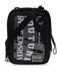 Versace Jeans Couture Shoulder Bag With Logo - Zwart