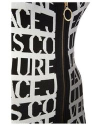 Versace Jeans Couture Print Knitted Dress Negro