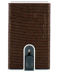 Piquadro Credit Card Holder With Akron Rfid Sliding System - Bruin