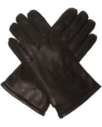 K-Way Yield Leather Gloves - Zwart