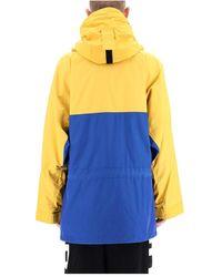 Burberry Globe print hoodie Azul