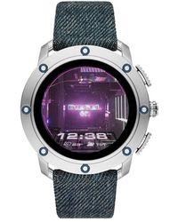 DIESEL Écran Tactile Digital Montre Connectée avec Bracelet en Tissu DZT2015 - Bleu