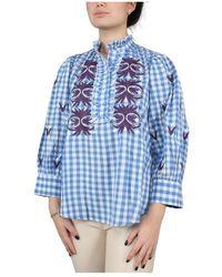 Antik Batik Patty long blouse - Azul