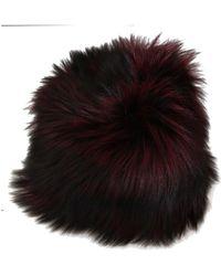 Dolce & Gabbana Fox Fur Winter Hat - Zwart