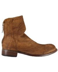 LEMARGO Vintage flat ankle boots Br03A - Braun